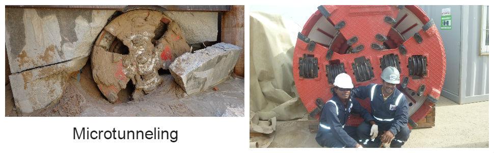 microtunneling. 1 microtunneling n